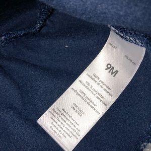 Carter's Shirts & Tops - Carter's Navy Silver Polka Dot Bow Tie Long Sleeve